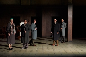 0235 Caroline McKenzie, Igor Sas, Josh McConville, Ben O'Toole, Eden Falk. Death of a Salesman. Photo by Gary Marsh