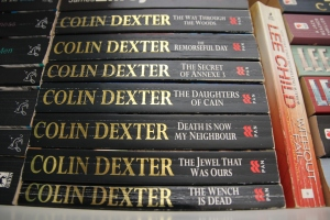 Not THAT proud of my matching Colin Dexter collection, jeez.