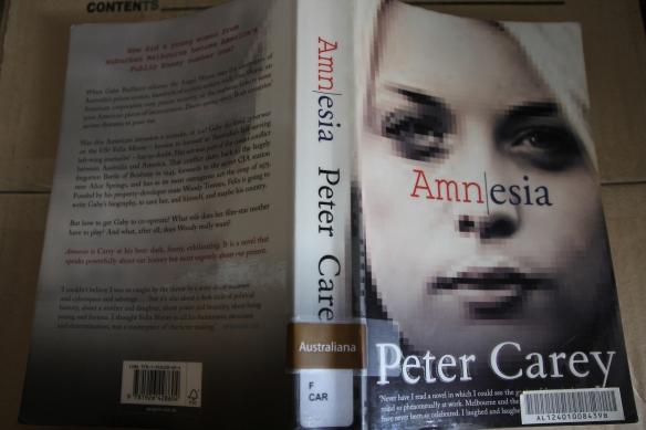 Peter Carey's Amnesia