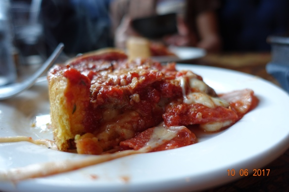 IT'S OK, WE HAVE PIZZA. The deep dish marvel at Gino's on La Salle.