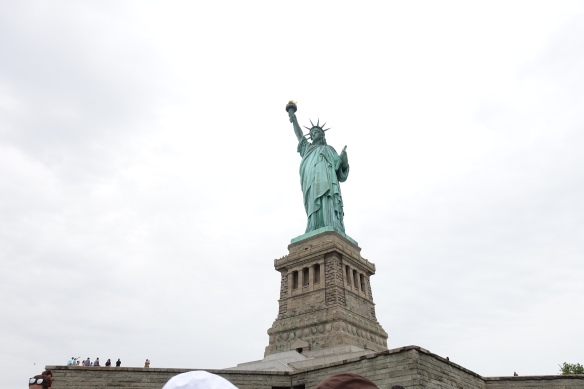 Lady Liberty: up close, she is colossal, powerful and moving.