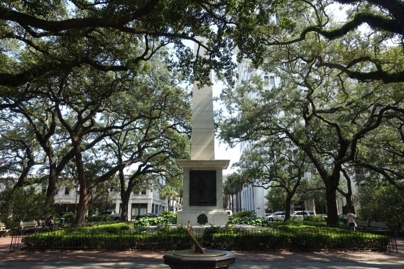 Typical public square in Savannah