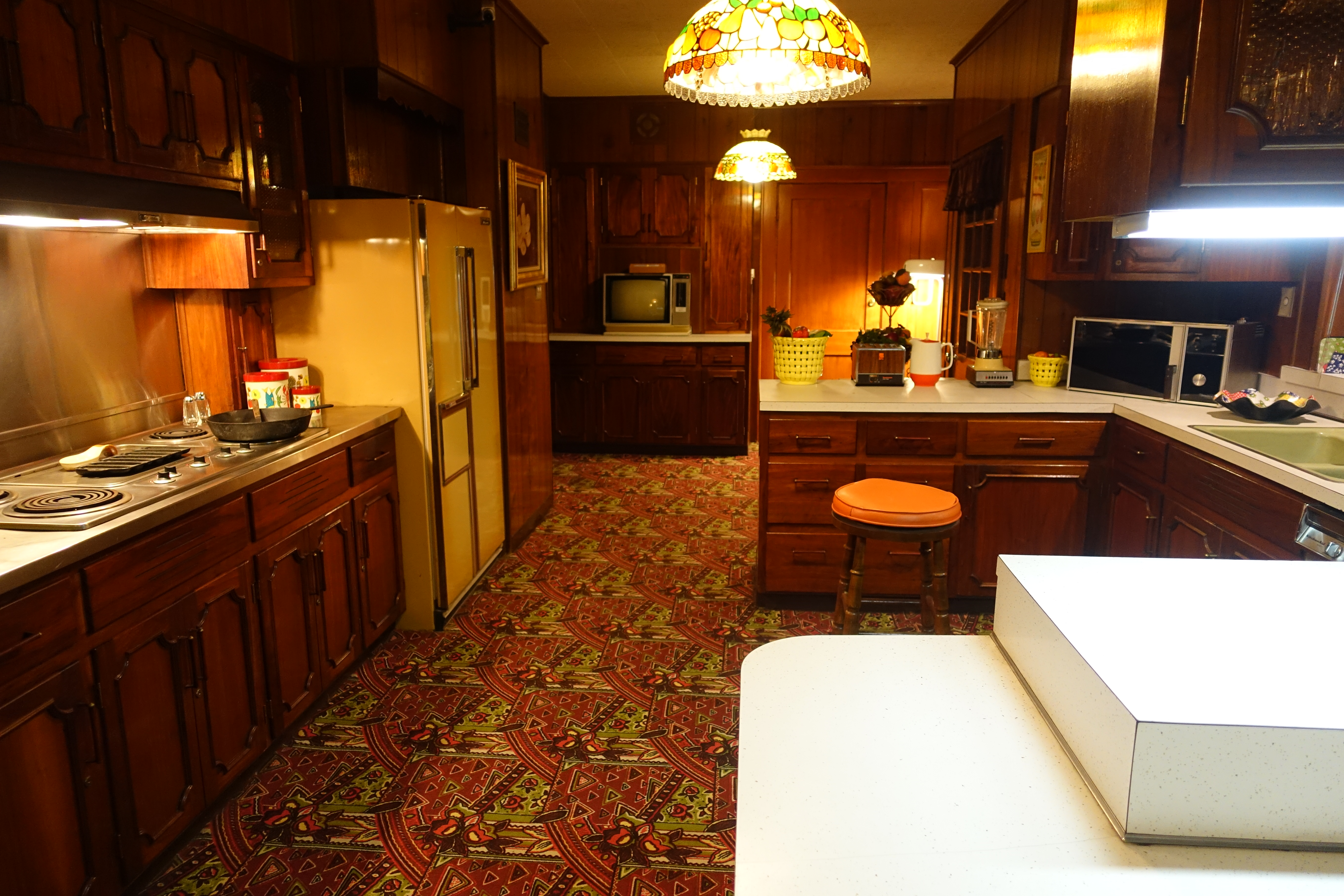 Carpeted Kitchen At Graceland! Apparently It Was Heavily Used, Too. Loved  This.