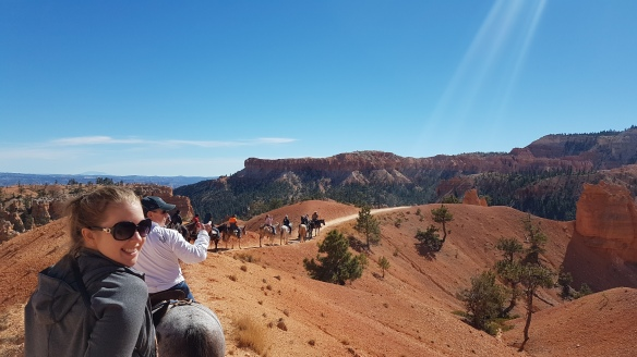 The blue skies of Utah over Bryce Canyon. Best viewed on horseback.