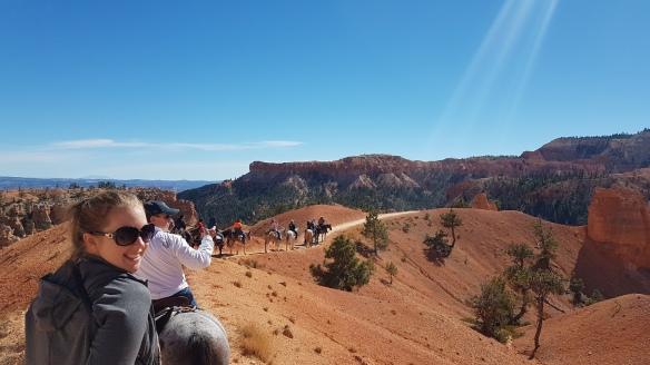 The blue skies of Utah over Bryce Canyon. Best viewed on horseback.