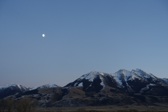 A new moon over southern Montana