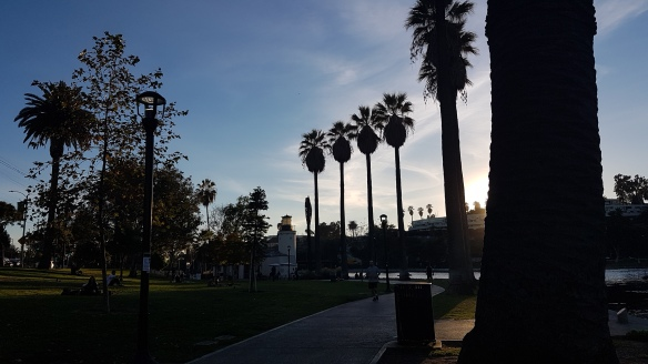 I did find one nice spot walking distance from our place: Echo Park.